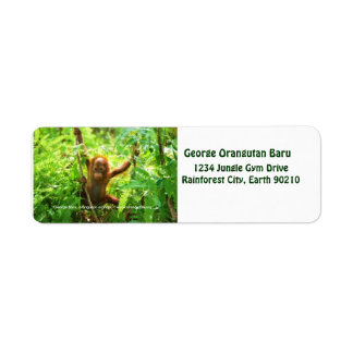 George Orangutan Custom Return Address Label