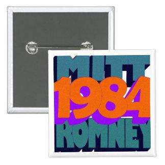 George Orwell 1984 Pin Cuadrado
