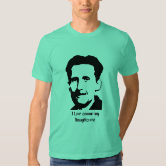 """George Orwell """"1984"""" Quote T-Shirt - Customized"""