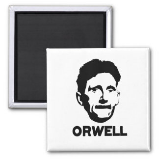 George Orwell 2 Inch Square Magnet