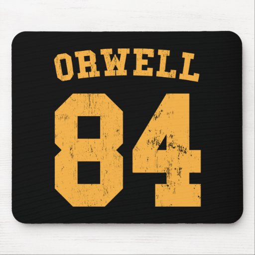 George Orwell 84 1984 Jersey Mouse Pad
