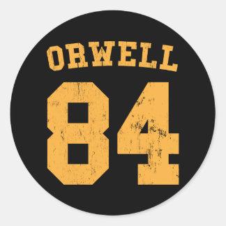 George Orwell 84 1984 Jersey Round Sticker