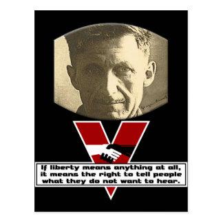 George Orwell - libertad Postales