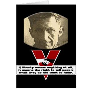 George Orwell - libertad Tarjeta De Felicitación