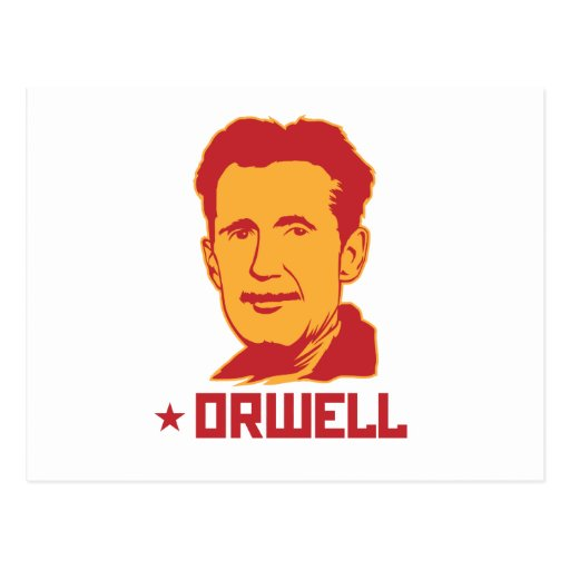 George Orwell Portrait Postcard