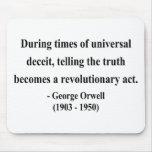 George Orwell Quote 1a Mousepads