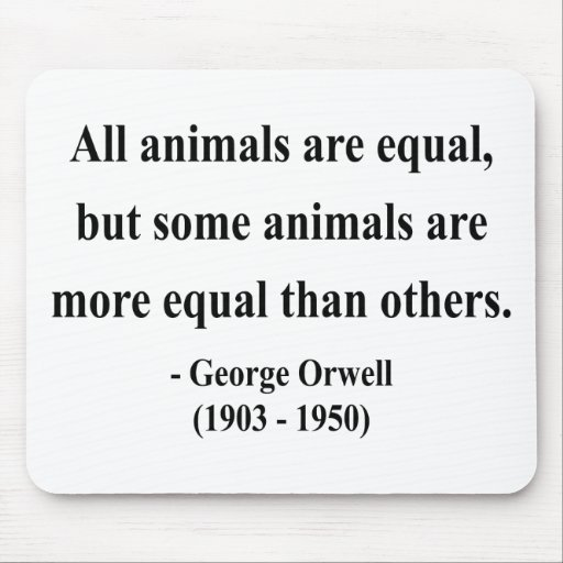 George Orwell Quote 3a Mouse Pad