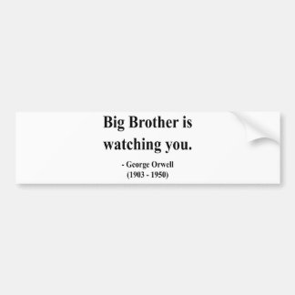 George Orwell Quote 5a Bumper Sticker