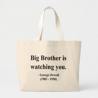 George Orwell Quote 5a Large Tote Bag