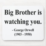 George Orwell Quote 5a Mousepad