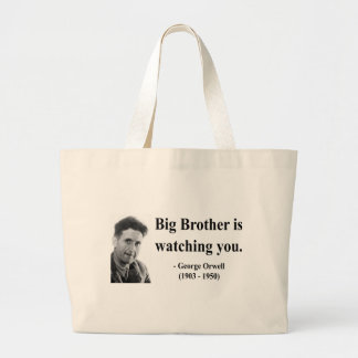 George Orwell Quote 5b Large Tote Bag