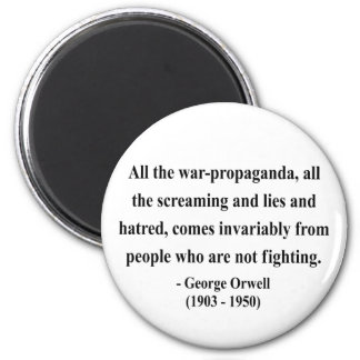George Orwell Quote 6a 2 Inch Round Magnet