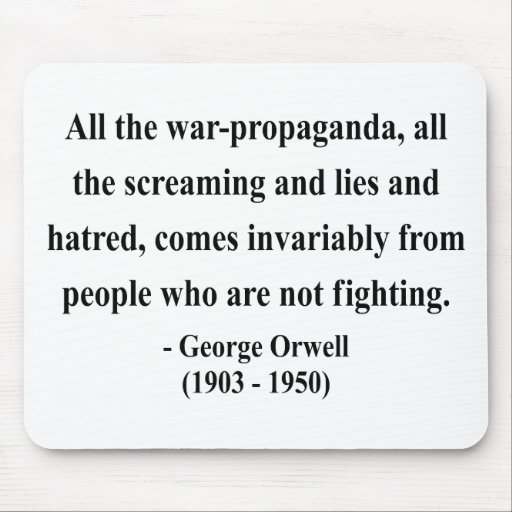 George Orwell Quote 6a Mouse Pad