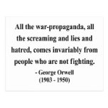 George Orwell Quote 6a Postcard