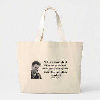 George Orwell Quote 6b Large Tote Bag