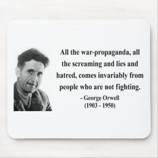 George Orwell Quote 6b Mouse Pad