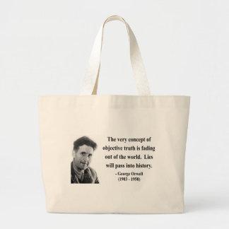 George Orwell Quote 7b Jumbo Tote Bag