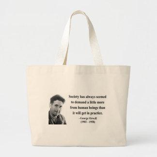 George Orwell Quote 8b Jumbo Tote Bag
