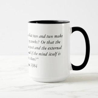 George Orwell quote from 1984 Two Tone Coffee Mug. Mug