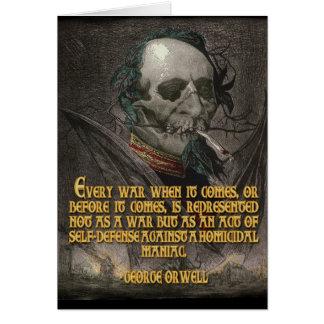 George Orwell Quote on Wartime Propaganda Greeting Card