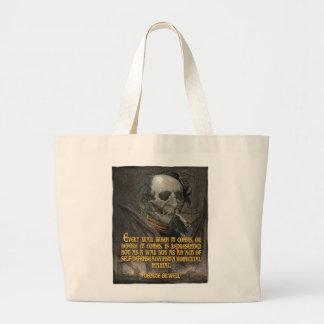 George Orwell Quote on Wartime Propaganda Jumbo Tote Bag