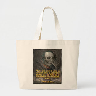 George Orwell Quote on Wartime Propaganda Large Tote Bag