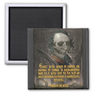 George Orwell Quote on Wartime Propaganda Refrigerator Magnet