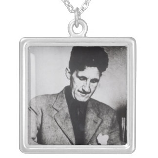 George Orwell Silver Plated Necklace