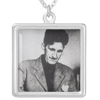 George Orwell Square Pendant Necklace