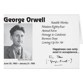 George Orwell Tarjeta