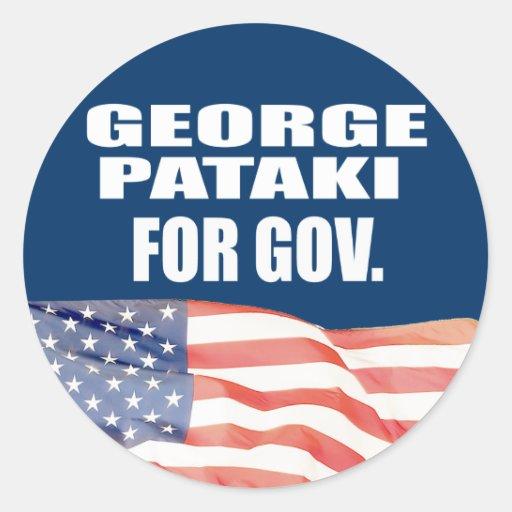 GEORGE PATAKI FOR SENATE CLASSIC ROUND STICKER