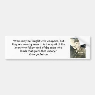 George Patton - guerras y armas Pegatina Para Auto