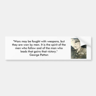 George Patton - Wars and Weapons Car Bumper Sticker