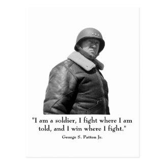 George Patton y cita Tarjetas Postales