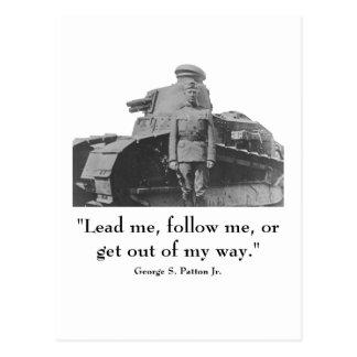 George Patton y cita Postal