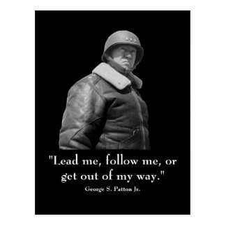 George Patton y cita Tarjeta Postal