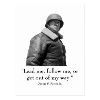 George Patton y cita Postales