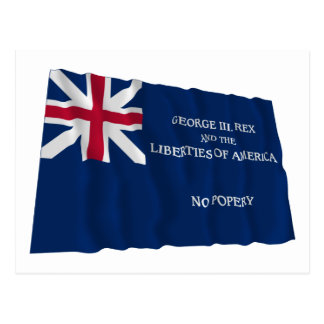 George Rex Flag -- CORRECTED BLUE FIELD! Postcard