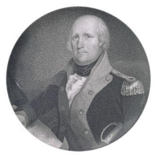 George Rogers Clark (1752-1818) engraved by Thomas Melamine Plate