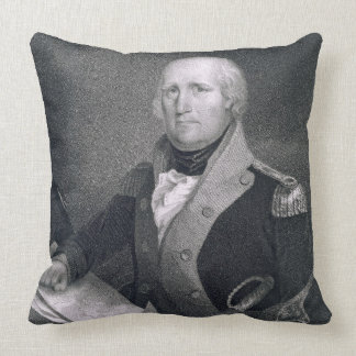 George Rogers Clark (1752-1818) engraved by Thomas Throw Pillow