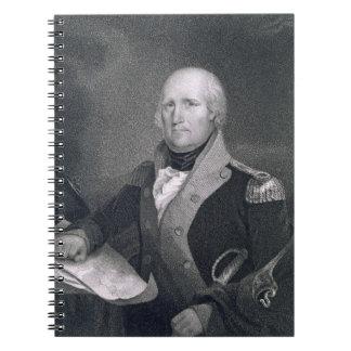 George Rogers Clark (1752-1818) grabado por Thomas Libro De Apuntes Con Espiral
