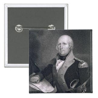 George Rogers Clark (1752-1818) grabado por Thomas Pin Cuadrado