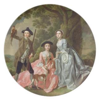 George Rogers con su esposa, Margaret, y su SIS Platos