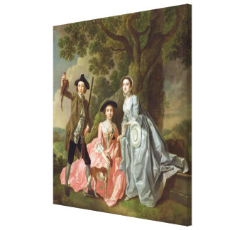George Rogers with his Wife, Margaret, and his Sis Gallery Wrap Canvas