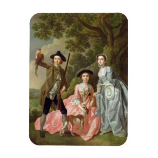 George Rogers with his Wife, Margaret, and his Sis Rectangular Photo Magnet