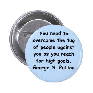 george s patton quote 2 inch round button
