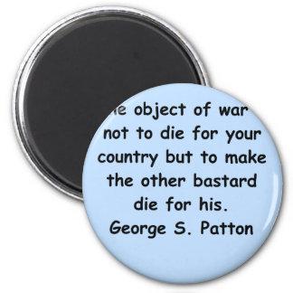 george s patton quote 2 inch round magnet