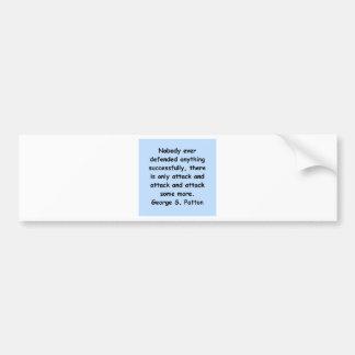 george s patton quote bumper sticker