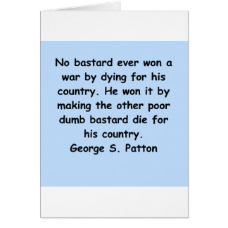 george s patton quote card