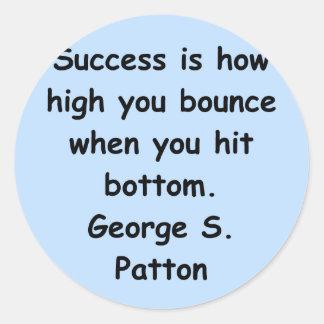 george s patton quote classic round sticker